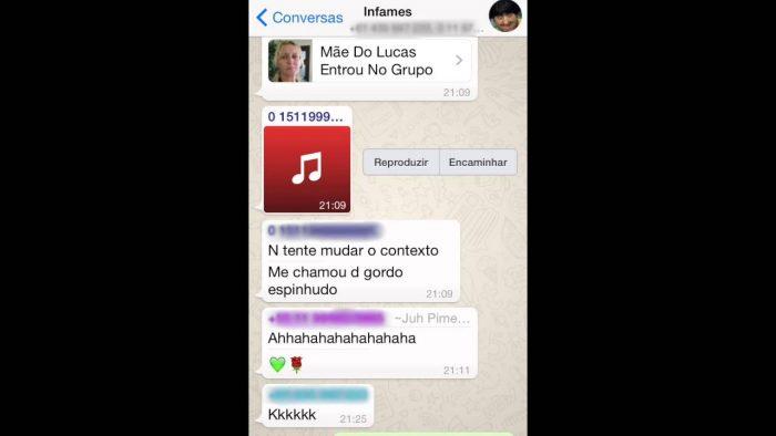 Mãe do Lucas: Não Mandem Putaria no Whatsapp