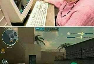 Avó jogando CS