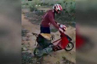 Video Cacetadas: Um idiota, uma rampa e uma scooter
