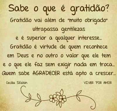 Gratidão Vai Além De Agradecer Frases E Mensagens