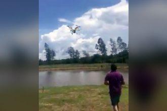 Baixar video Pescando com Drone