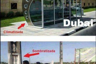 Baixar imagem Ponto de ônibus no Brasil vs Dubai